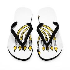 Chanukkah Menorah Flip Flops