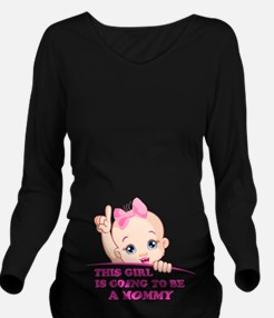 Cool Footprint Long Sleeve Maternity T-Shirt