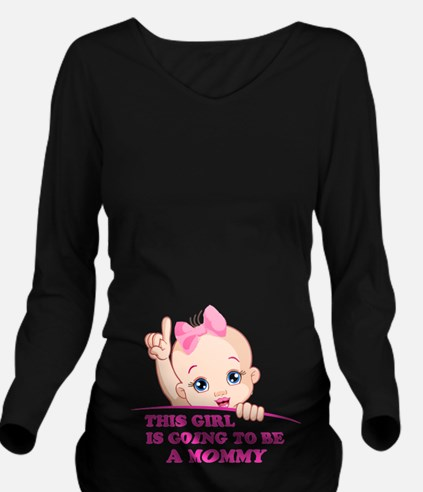 Cute Baby girl Long Sleeve Maternity T-Shirt