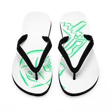 Green dreidels Happy Chanukah.png Flip Flops