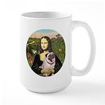 Mona's Fawn Pug (#2) Large Mug
