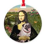 Mona's Fawn Pug (#2) Round Ornament