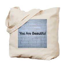 """You are Beautiful"" Street Art Tote Bag"