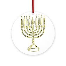 Menorah for Hanukkah.PNG Ornament (Round)