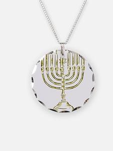 Menorah for Hanukkah.PNG Necklace