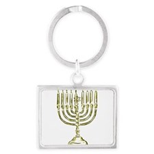 Menorah for Hanukkah.PNG Keychains