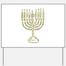 Menorah for Hanukkah.PNG Yard Sign