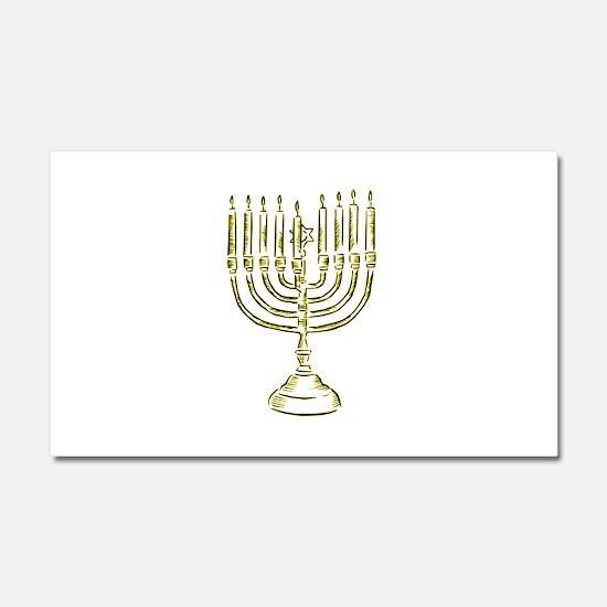 Menorah for Hanukkah.PNG Car Magnet 20 x 12