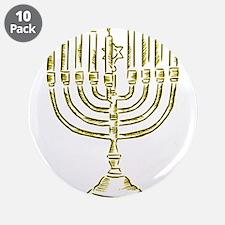 """Menorah for Hanukkah.PNG 3.5"""" Button (10 pack)"""