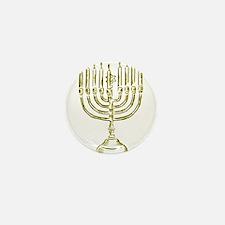 Menorah for Hanukkah.PNG Mini Button (10 pack)