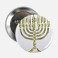 "Menorah for Hanukkah.PNG 2.25"" Button (100 pack)"