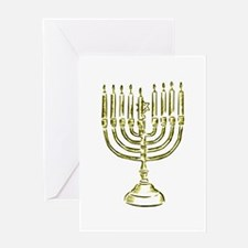 Menorah for Hanukkah.PNG Greeting Cards