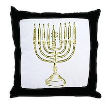 Menorah for Hanukkah.PNG Throw Pillow