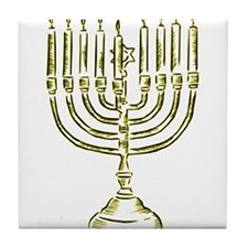Menorah for Hanukkah.PNG Tile Coaster
