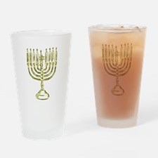 Menorah for Hanukkah.PNG Drinking Glass