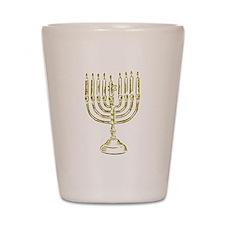 Menorah for Hanukkah.PNG Shot Glass