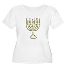 Menorah for Hanukkah.PNG Plus Size T-Shirt