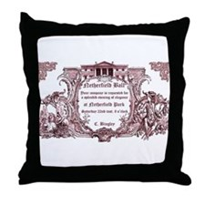 Unique Jane austen mr bingley Throw Pillow