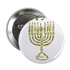 """Happy Chanuka with Menorah.png 2.25"""" Button"""