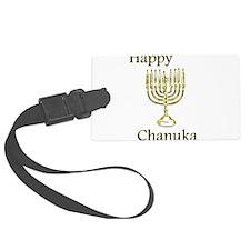 Happy Chanuka with Menorah.png Luggage Tag