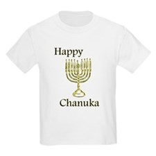 Happy Chanuka with Menorah.png T-Shirt
