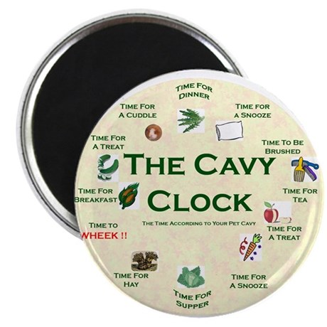 'The Cavy Clock' Magnet