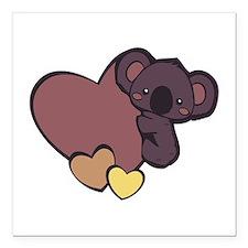 """Koala Love Square Car Magnet 3"""" x 3"""""""