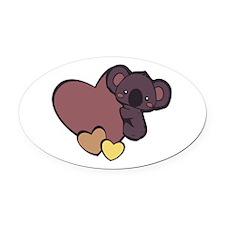 Koala Love Oval Car Magnet