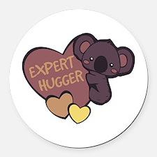 Expert Hugger Round Car Magnet