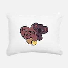 Koa-Love You Rectangular Canvas Pillow