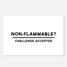 Non-Flammable? Challenge Accepted Postcards (Packa