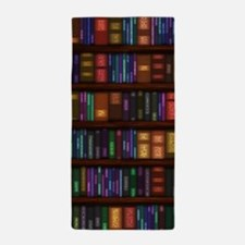Old Bookshelves Beach Towel