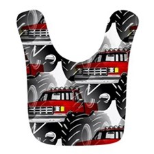 RED MONSTER TRUCK Bib