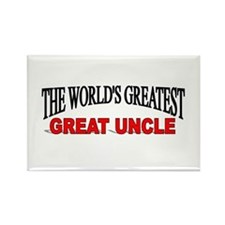 """""""The World's Greatest Great Uncle"""" Rectangle Magne"""