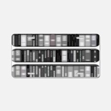 Modern Bookshelves Aluminum License Plate