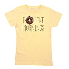 I Donut Like Mornings Girl's Tee