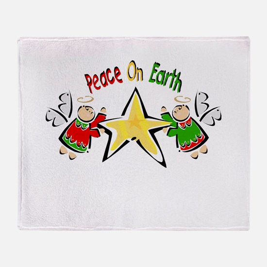 Peace on Earth Angels.png Throw Blanket