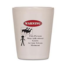 Funny Goat Warning Shot Glass