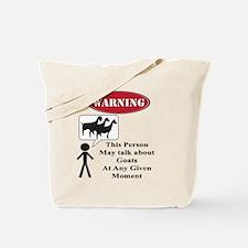 Funny Goat Warning Tote Bag
