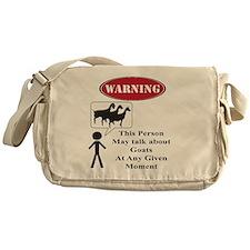 Funny Goat Warning Messenger Bag