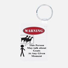 Funny Goat Warning Keychains