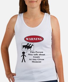 Funny Goat Warning Tank Top