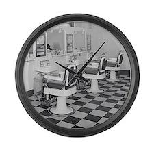 Cute Barber shop Large Wall Clock