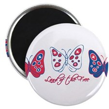 """Butterflies Are Free 2.25"""" Magnet (10 pack)"""