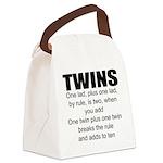 Twins poem Canvas Lunch Bag