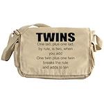 Twins poem Messenger Bag