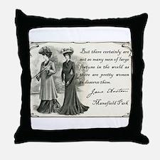 Cute Mansfield park Throw Pillow