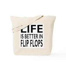 Life Is Better In Flip Flops Block Print Tote Bag