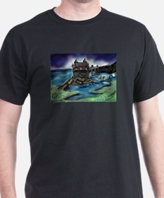 Funny Dragon on castle T-Shirt