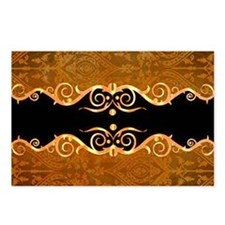 Gold and black border print Postcards (Package of